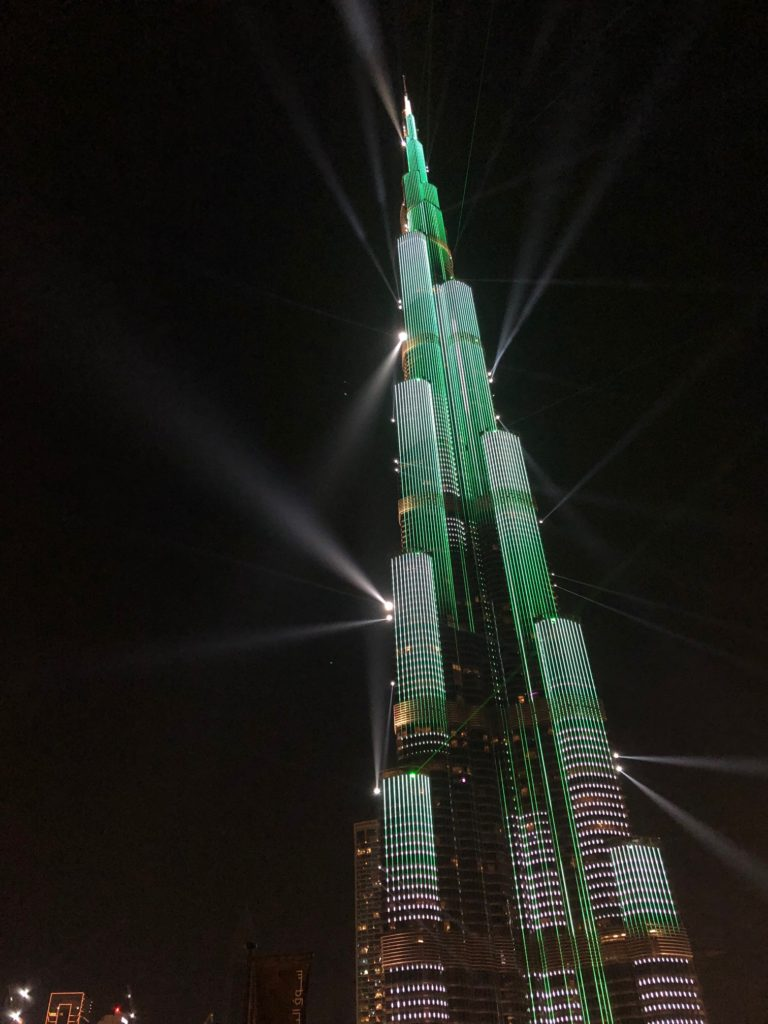 A view up the Burj Khlaifa in Dubai