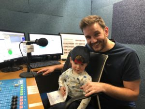 The Neu Dad in the Riverside Radio studio