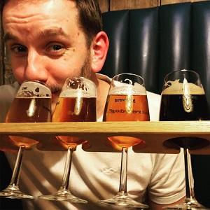 Four beers in Edinburgh's Brewdog bar