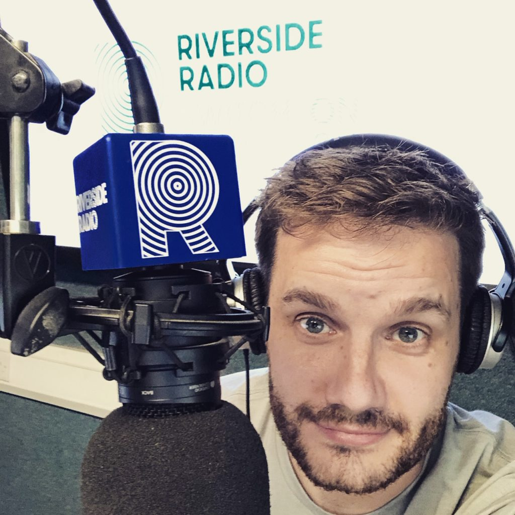 The Neu Dad presenting on radio
